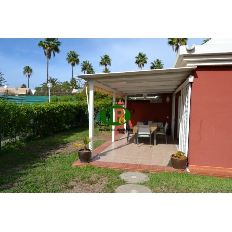 Very nice bungalow with large garden area in topp location to rent in maspalomas - 1