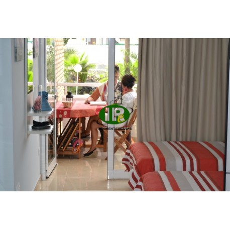 Holiday studio apartment on the first floor, beautifully furnished with 2 large beds - 1