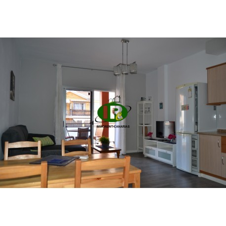 Renovated apartment well furnished with balcony and garage space and storage room on floor 1 in Mogan