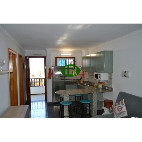 Apartment mit 2 Schlafzimmer in 1. Reihe Meer in 3. Etage mit Blick auf den Gemeinschaftspool und das Meer - 4