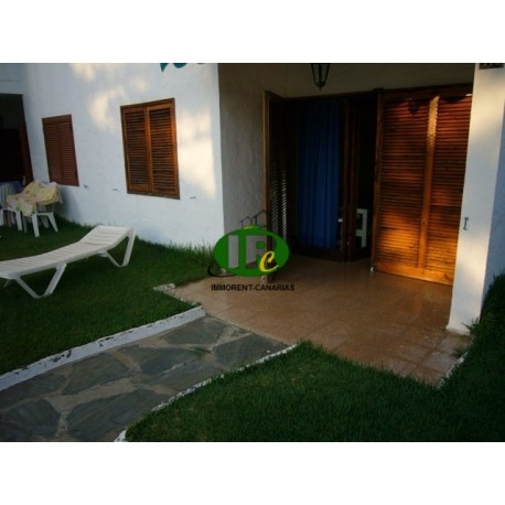 Bungalow with 2 bedrooms in 1st row to the beach at the beginning of Playa del Ingles