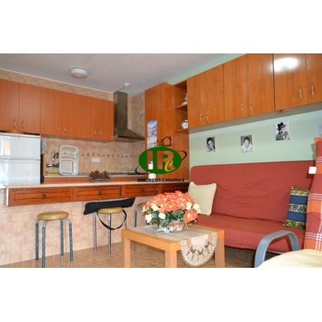 Urlaubsapartment, mit 1 Schlafzimmer und Balkon mit Markise in Richtung Maspalomas - 4