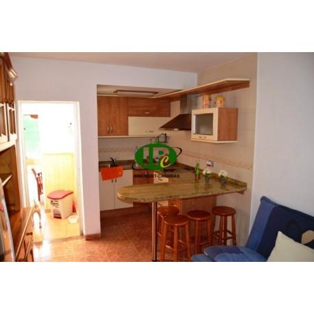 Bungalow de vacaciones con 1 dormitorio. Terraza cerrada de azulejos, parcialmente cubierta - 4