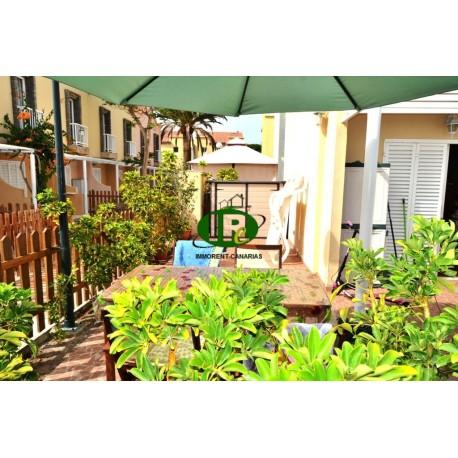 Urlaubs-eckbungalow mit 1 Schlafzimmer und großer geschlossener Terrasse - 1