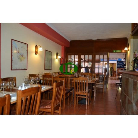 Restaurant on a central location on approximately 50 M2 floor area with terrace and seating inside for 38 guests