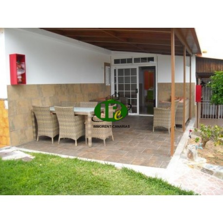 Beautiful bungalow with 2 bedrooms on 60 sqm living space and 105 sqm useable area on terraces and garden area